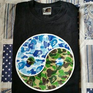 🔥 Bape vintage ying yang tee rare camo